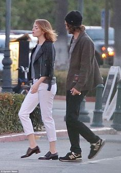 Back on? Emma Stone and Andrew Garfield were seen heading to dinner in Los Angeles on Tues...