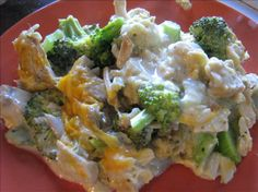 Turkey & Stuffing Casserole. Photo by ~Leslie~ I made this for a church fellowship. I layered the ingredients in the crock pot, leaving out the broccoli because I was afraid it would get ick in the slow cooker. I added extra meat instead. Great reviews; it worked beautifully in the slow cooker.