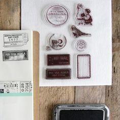 "Pack de sellos ""Retro"". A la venta en: www.mrwonderfulshop.es"