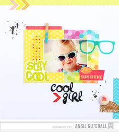 Cool Girl - Scrapbook.com - Made with American Crafts supplies.