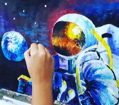 Kozmonaut Astronaut, Painting, Art, Art Background, Painting Art, Kunst, Astronauts, Paintings, Performing Arts