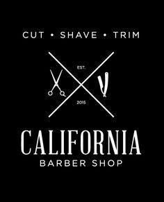 California Barber Logo Vintage opt. 1
