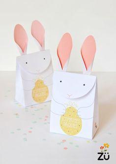 Boîte en papier Lapin