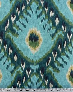 Bold Ikat Aqua | Online Discount Drapery Fabrics and Upholstery Fabric Superstore!