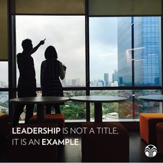 Will YOU lead by example?