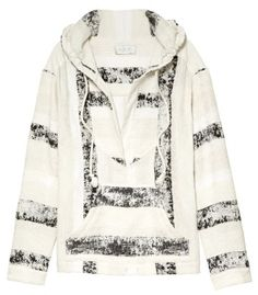 A.L.C. Fremont Textured Striped Hoodie - ShopBAZAAR #GetGraphic
