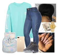 """""""Untitled #30"""" by jordyghicks on Polyvore featuring HUF, NIKE and Rolex"""