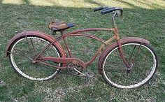 1950s SCHWINN SPITFIRE MENS DELUXE BICYCLE HORNET RED  BALLOON VINTAGE