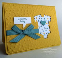Stampin' Up! Welcome Baby Card Elaine's Creations