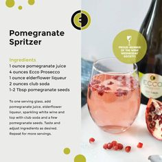 Upgrade your ‪#‎WineWednesday‬ with our Pomegranate Spritzer. A ...