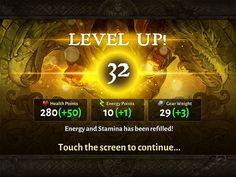 Dungeon hunter 5 levelup screen by Panperkin