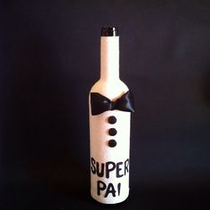 Mrs. Bottle  Dia do Pai #diadopai#father'sday#dad#pai#bottle#handmade#gift#wine#crafts#superpai by mrsbottle