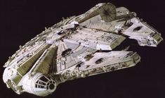 The Millennium Falcon became famous as the personal smuggling starship of Han Solo and Chewbacca. Throughout its operational lifetime, the ship endured many adventures and upgrades which led to its dilapidated exterior appearance.