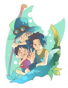 Sabo, Ace and Luffy