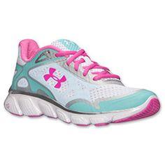Women's Under Armour Micro G Pulse Running Shoes| FinishLine.com | White/Steel/Blue