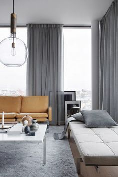via eklund stockholm new york - Modern Curtains For Living Room Pictures
