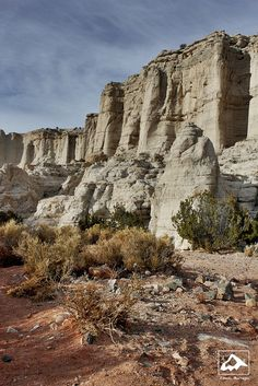 Plaza Blanca by isaac.borrego, via Flickr; Aboquiu, New Mexico