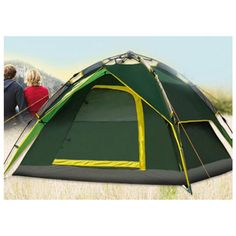 LANGYA Double Layer Automatic Tent for 3-4 People - ARMY GREEN #LANGYA
