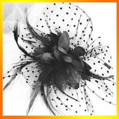 Lady Handmade cabelo Acessório Partido fascinador Lace Headband Flor Pena   eBay