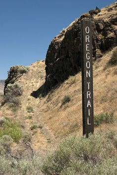 Oregon Trail ruts near Biggs Junction, Oregon