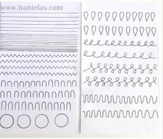Practice Sheet From Hanielas Piping Templates Royal Icing Cake Stencil