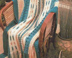 Homespun Charm Crochet Blanket Afghan Pattern Bedding Home