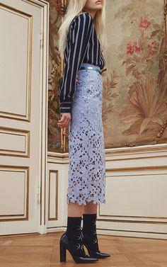Faded Denim Sakiko Lace Skirt by Baum und Pferdgarten   Moda Operandi