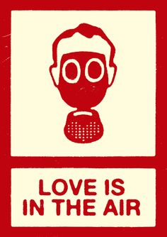 Love is in the Air- reminds me of a rubber stamp I could make.