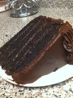 Chocolate cake makes everything better.