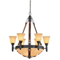 Kalco Rodeo Drive 9 Light Shaded Chandelier Finish: Antique Copper