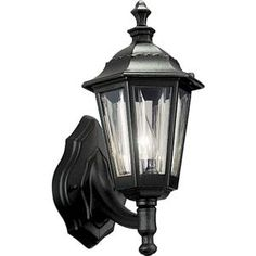 Progress Lighting Black 1-light Wall Lantern-P5826-31 at The Home Depot