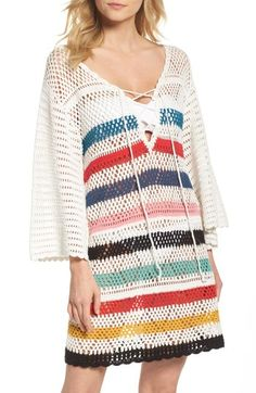 Free shipping and returns on Muche et Muchette Pacific Crochet Cover-Up Dress at Nordstrom.com. Stay retro-chic at the beach or pool in this crocheted cover-up dress patterned with bold stripes.