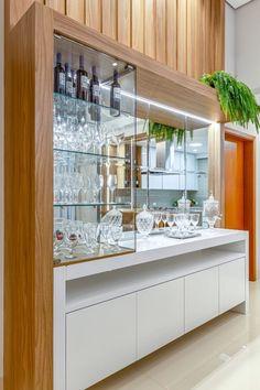Kitchen Room Design, Home Room Design, Interior Design Kitchen, Home Bar Decor, Home Decor Kitchen, Retro Home Decor, Living Room Bar, Living Room Tv Unit Designs, Crockery Cabinet