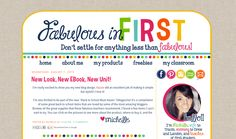 Designs By Kassie: Fabulous in First | blog and facebook design