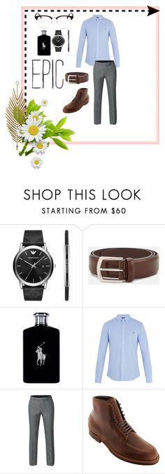 """""""Epic ⭐️"""" by procrastinati0n ❤ liked on Polyvore featuring Emporio Armani, J.W. Anderson, Ralph Lauren, Polo Ralph Lauren, Yves Saint Laurent, men's fashion and menswear"""