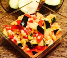Zucchini Bikini Salad, a delicious summertime recipe