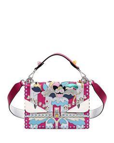 Kan I Wonder Monster Shoulder Bag, Pink/Silver