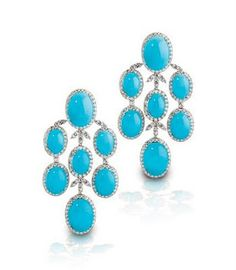 turquoise and diamond chandelier earrings from king jewelers nashville