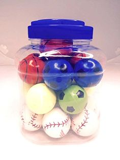 Kids Bounce Sports Balls 25 In Set of 24 Pieces Soccer Tennis Baseball Basketball ** Find out more about the great product at the image link.Note:It is affiliate link to Amazon.