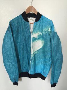 80s tyvek surf wave jacket by okkkkk on Etsy