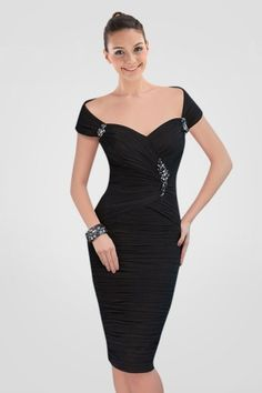 mesmerizing-offtheshoulder-kneelength-black-cocktail-dress-with-crystals-and-pleats-