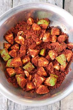 Mango pickle recipe, avakai, is a traditional Andhra pickle made with raw mango. How to make mango pickle. Mango Recipes, Veg Recipes, Indian Food Recipes, Snack Recipes, Cooking Recipes, Ethnic Recipes, Crispy Pickles Recipe, Baked Pickles, Pickle Mango Recipe
