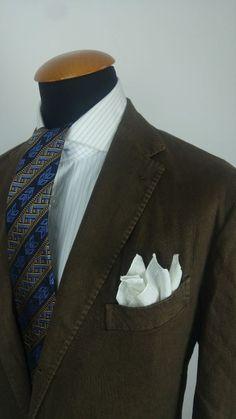 Boglioli Mens Linen Blazer Coat Size 42R Brown Cotton Jacket Working Cuffs gr 52 in Clothes, Shoes & Accessories, Men's Clothing, Coats & Jackets | eBay