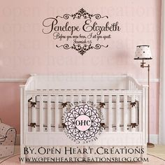 Hey, I found this really awesome Etsy listing at https://www.etsy.com/listing/233219158/baby-nursery-name-and-scripture-wall