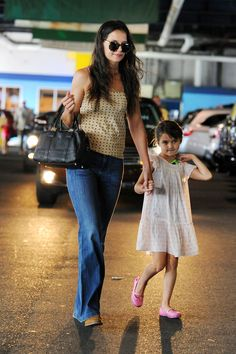 NEW YORK, NY - JULY 15: (L-R) Katie Holmes and daughter Suri Cruise sighting on July 15, 2013 in New York City. (Photo by Josiah Kamau/BuzzFoto/FilmMagic) via @AOL_Lifestyle Read more: https://www.aol.com/article/entertainment/2017/04/14/katie-holmes-shares-cute-throwback-photo-of-her-sweet-angel-su/22040336/?a_dgi=aolshare_pinterest#fullscreen