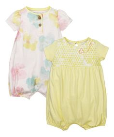 Look what I found on #zulily! Duckling Morning Glory Organic Bubble Romper Set - Infant #zulilyfinds