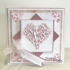 Dies by Chloe - CHCC-023 Butterfly Heart Die - £14.99 - Dies By Chloe Chcc023 Butterfly Heart Die - Chloes Creative Cards Butterfly Cards, Flower Cards, Chloes Creative Cards, Stamps By Chloe, Create And Craft Tv, 18th Birthday Cards, Flower Stamp, Anniversary Cards, Making Ideas