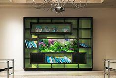 aquarium bookshelf