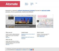 Check out our web site http://atomate.net, for latest news