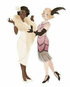 """Lovely 1920s fashion (Tiana and Charlotte from Disney's """"The Princess and the Frog"""")"""